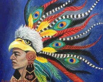Aztec Warrior prints
