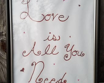 Love is all you need word art