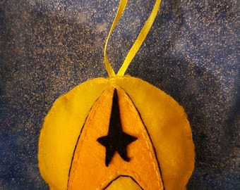 Captain Kirk - Star Trek inspired handmade felt ornament