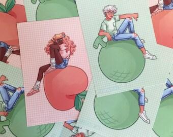 Peach Girl & Melon Boy Prints