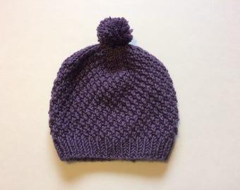 Children's Textured Pom Pom Hat