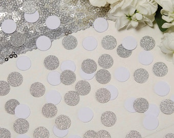 White and Silver Sparkle Table Confetti, Silver, Confetti, Wedding Decorations, Table Decorations, Party Decorations, Crafting Supplies