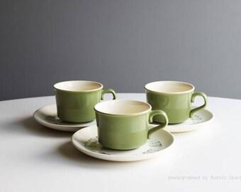 Mid-Century Modern Atomic Age Teacups Set of 3