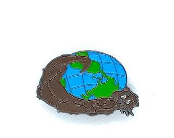 Otter World Pin Lapel Snapback Festival EDM
