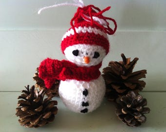 Christmas snowman crochet