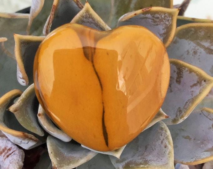 Yellow Mookaite Heart infused w/ Reiki