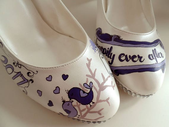 Bride with Heels Shoes Purple for Custom Bridal Lace with Low Wedding Shoes ApqOCxt