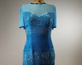 Kathryn Conover Vintage Blue dress