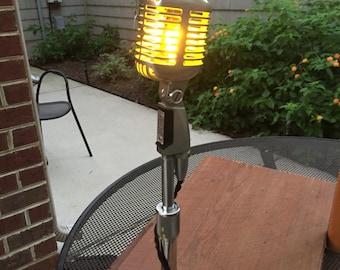 Vintage Shure 55 Microphone Lamp