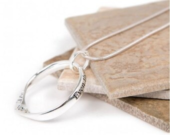 Far Apart Heart Message slogan necklace perfect gift (Even though we're far apart I LOVE YOU dearly...with all my HEART....)