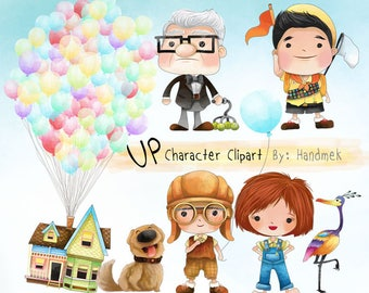 Cute UP character clipart  instant download PNG file - 300 dpi.