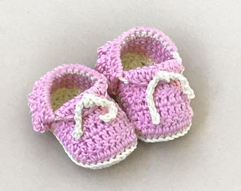 Crochet Baby Moccasins Pattern - Crochet Baby Shoes - Baby Booties Crochet Pattern - Baby Moccs CROCHET PATTERNS by Deborah O'Leary Patterns