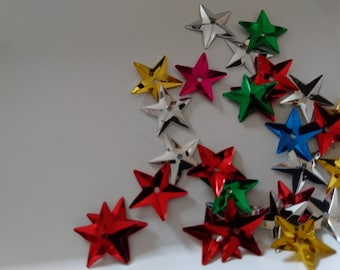 Set of 115 SEQUINS stars 15mm in diameter