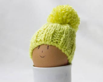 Lovely Green Egg Cozy, Hand Knitted, Knitted Egg Cozy, Easter Egg Cosy, Egg Warmers