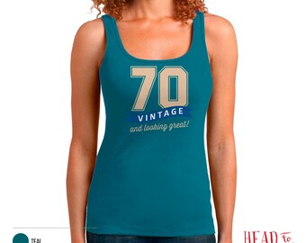 70th Birthday, 70th Birthday Gift, 70th Birthday Party, 1946 Birthday, 70 Birthday, Tank Top, 70th, 70, 70th Birthday Shirt, 70 years old!