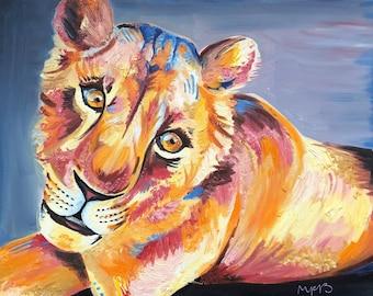 Sirga the Lion Print