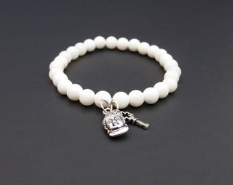 Natural Coral beads bracelet