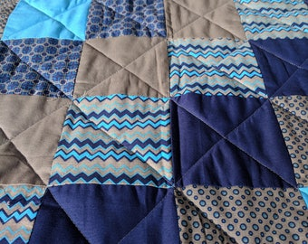 Blue and Grey Toddler quilt