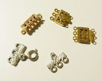 Gold and silver clasps