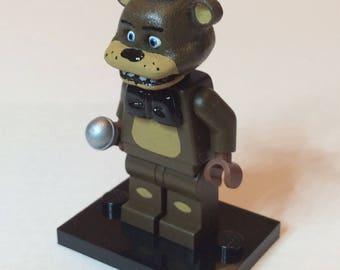 Freddy Fazbear - Five Nights At Freddy's Custom Lego Minifigure Mini Fig