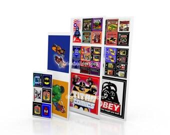 Lego Custom STICKERS: Comic Book Shop