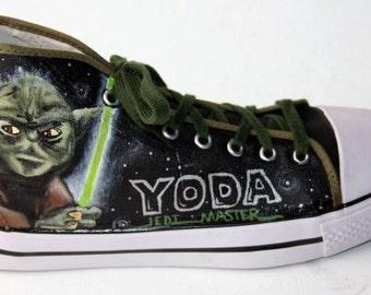 Custom Converse High Tops STAR WARS YODA Inspired Any Size