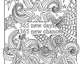 Inspirational quote coloring page, motivational adult colouring Pages, quote printable, planner insert, colouring meditation for adults