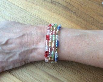 Glanzende zaad Parel Armbanden