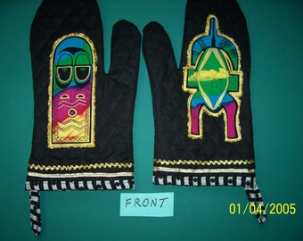 Tribal Masks Oven Mitts