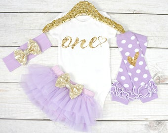 First Birthday Outfit, Baby Girl 1st Birthday Oufit, 1st Birthday Girl, Cake Smash Outfit, 1st Birthday Girl, One (S9) (1BD) (LAV)