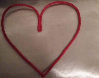 Pretty heart in knitting