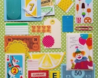 Clowning Around Vintage Ephemera Collection | 25+ pieces | Mixed Media | Junk Journal | Scrap Pack | Inspiration Kit | Paper Arts & Crafts