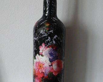 Decoupage, cracle bottle