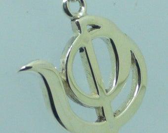 Psychology pendant in sterling silver symbol psychology Silver pendant 925 thousandths