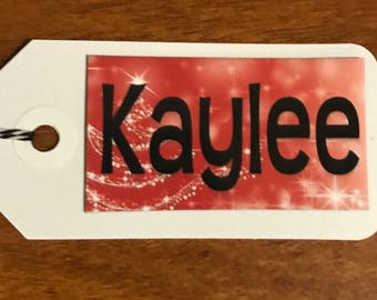 Small Gift Tag Magnets - Set of 4 - Personalized! A Gift Tag & Present All in One!