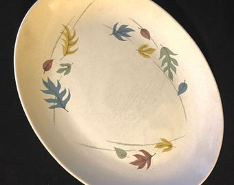 "Vintage Franciscan Autumn Leaves Serving Dish 13 3/4"" x 10 1/2"" Mid Century Modern"