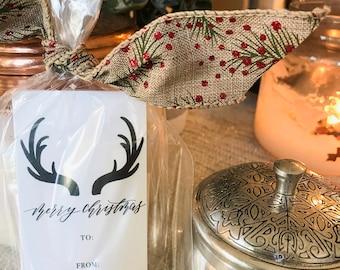12 antler christmas tag   christmas tags   christmas   merry christmas   gift tags   deer antler