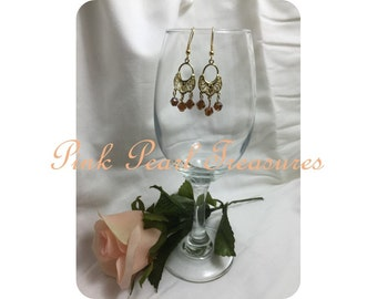 Amber Glow dangle earrings