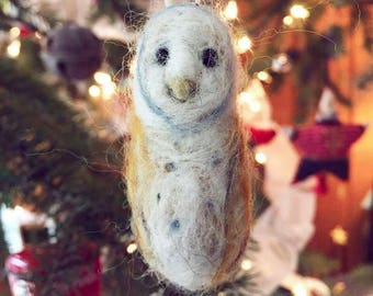 Needle Felted Owl Ornament