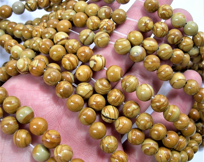Wood Jasper - 8 mm round beads -  full strand - 48 beads - A  quality - Wholesale deal - RFG1582