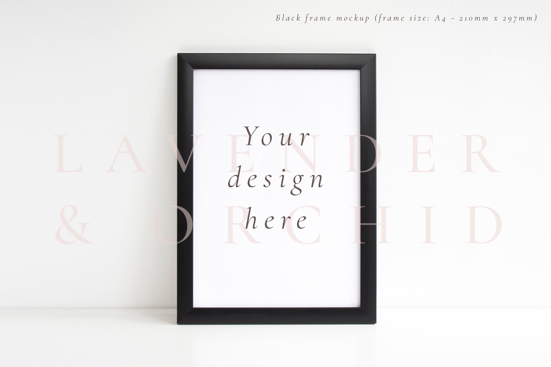 Black frame mockup styled stock photography a4 picture frame zoom jeuxipadfo Choice Image