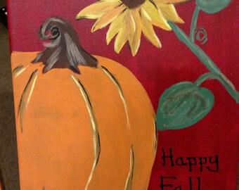 Fall harvest canvas
