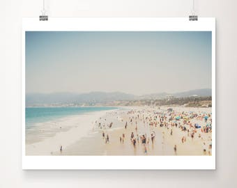 aerial beach photograph california photograph santa monica photograph pacific ocean photograph beach decor california print
