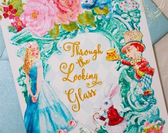 Alice Through the Looking Glass Invitations or Greeting Cards