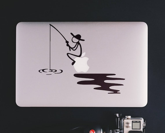Fishing Time, Macbook Decal, Decals for Laptops, Macbook decals, Relaxing time, Fish, Fishing, Fisherman, mac, macbook cover decal