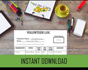 VOLUNTEER LOG DOWNLOAD