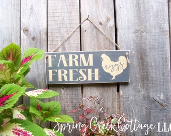 Rustic Farmhouse Decor, Farmhouse Decor, Chicken Coop Signs, Farm Fresh Eggs,  Hand-painted, Chicken Coop Decor, Wood Signs, Rustic Signs,