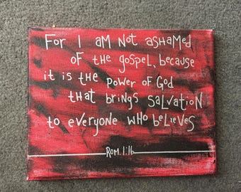 Romans 1:16 8x10 Canvas