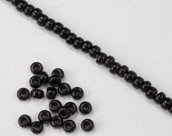 8/0 Opaque Black Seed Bead (40 gram) #JBP001