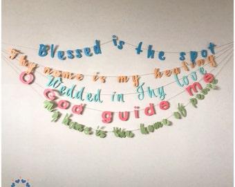 Baha'i Greeting Garland - Greeting Banner - Quote Banner